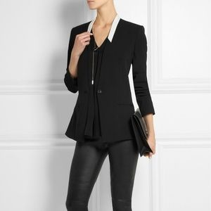 HELMUT LANG Black Palm Suiting Jacket Blazer Sz 6
